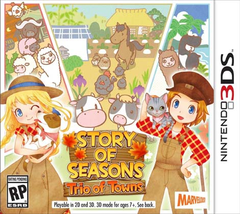 Story of Seasons: Trio of Towns Update 1.1 + DLC 3DS